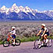 Teton Mountain Bike Tours - routes in the Park - Enjoy summer and fall half- & full-day guided bike tours of Teton Park in Moose. Easy riding for all ages (full suspension bikes). Take the paved bike path in the Park.