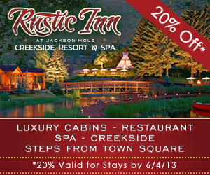 Rustic Inn Creekside Resort & Spa - Stay creekside! Luxurious cabins along Flat Creek w/ canoes, rafts, fishing & firepits! Enjoy world-class amenities - on-site spa, heated pool, lounge & gourmet breakfast.