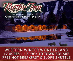 Rustic Inn Creekside Resort & Spa - Warm luxury cabins on 12 acres across from the National Elk Refuge are the ideal winter retreat in Jackson. Enjoy world-class amenities – spa, lounge, firepits, complimentary hot breakfast and shuttle to Teton Village.