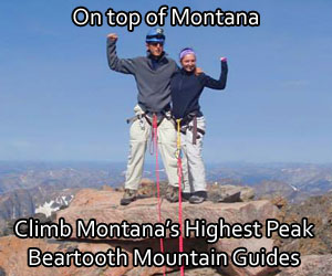 Beartooth Mountain Guides : The only locally owned-operated guiding and mountaineering instruction service offering year-round recreation in the Beartooth Range of Montana. Highest peaks in Montana.