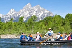 Barker-Ewing Float Trips in Grand Teton Nat'l Park :: TEN OF THE MOST BEAUTIFUL MILES OF RIVER IN THE WORLD and that's why we run our scenic floats ONLY within Grand Teton National Park.  Join us for the best of the Snake River!
