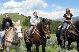 Willow Creek Horseback Rides :: We offer the finest horseback trail rides in Jackson Hole! Experience spectacular mountain scenery, wildlife, & wildflowers from the back of a horse. Fun for the whole family!