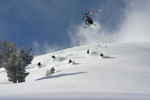 High Mountain Heli Skiing, Near Jackson Hole :: Jackson Hole's only heli-ski operator, since 1974. A variety of packages offered including lodging and all-inclusive. Ski some of the best untouched terrain in the area!