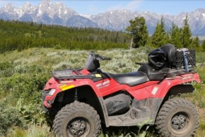 Scenic Safaris - Backcountry ATV Tours! :: Join us exclusively for a guided ATV ride into the backcountry surrounding Jackson Hole. For outdoor fun, nothing matches this off-road action! 1/2 day and full day trips.