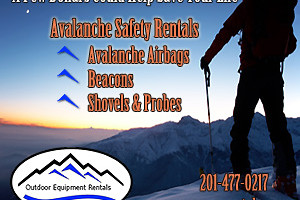 Outdoor Equipment Rentals - probes, beacons & more :: Low cost rentals for any adventure - Avalanche Beacons, Airbags, Shovels/probes; GoPro camera packages; InReach sat messengers & more. 2 way shipping to your home or hotel.
