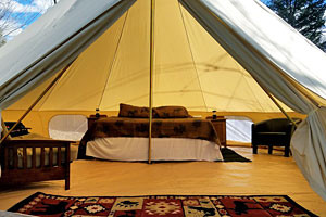 Swift Creek Outfitters - lakeside cabin tent
