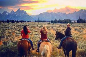Lost Creek Ranch and Spa - Historic Views : Exquisite Dude Ranch amidst the backdrop of the Teton Range. Rustic cabin accommodations, fine cuisine, premier spa, horseback riding, fly fishing, & more!  Wyoming's finest!