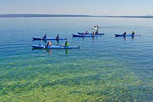 Sea Kayaking Tours on Yellowstone Lake