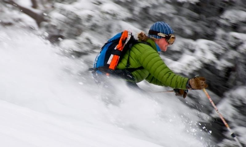 Skiing Skier Jackson Teton Pass Wyoming