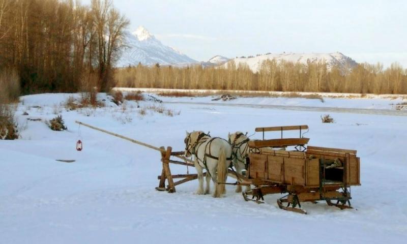 Jackson Hole Wyoming Sleigh Rides
