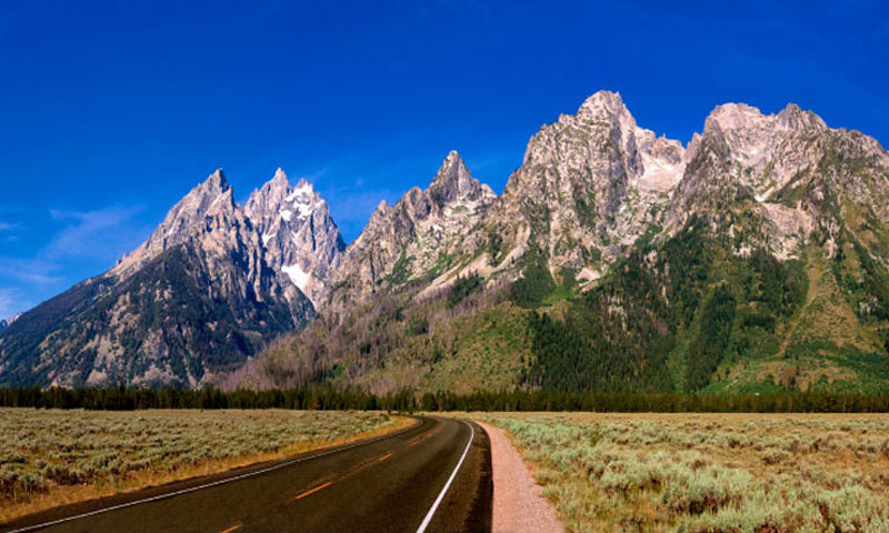 Grand Teton National Park Drive Road Scenic Panoramic