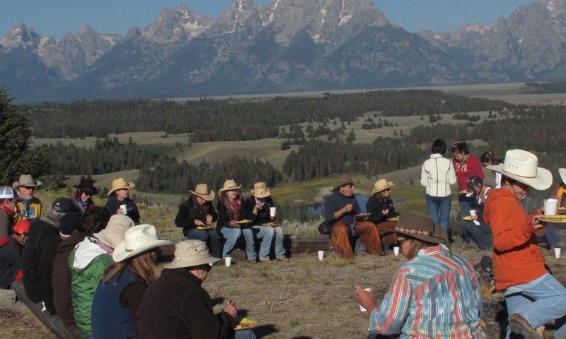 Chuckwagon Dinner Triangle X Ranch Jackson Wyoming