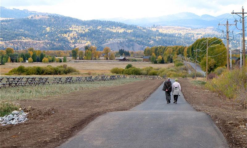 Couple Walking along Jackson Pathways