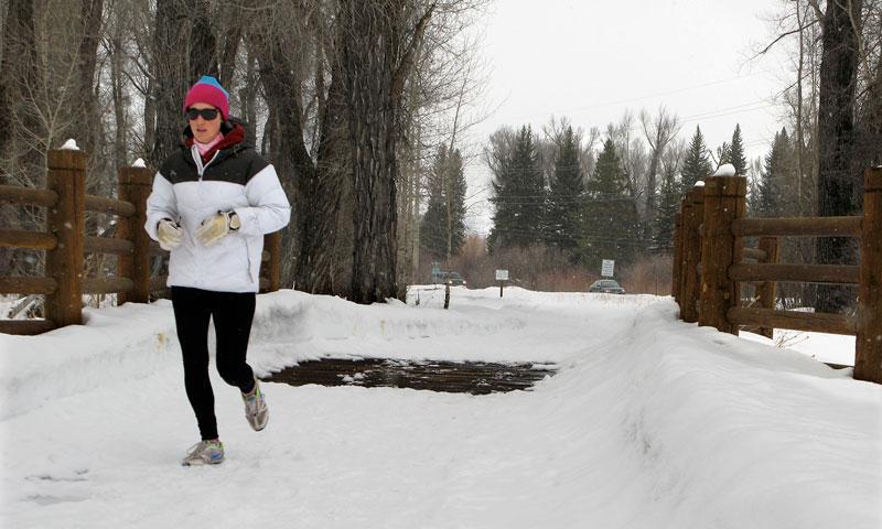 Running along Jackson Hole Pathways