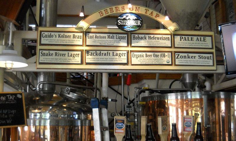 Beers on Tab at Snake River Brew Pub