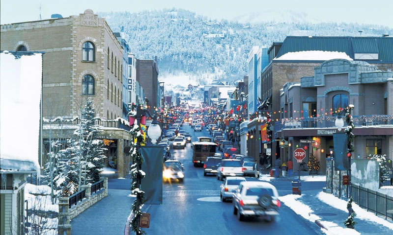 Historic Park City in Winter