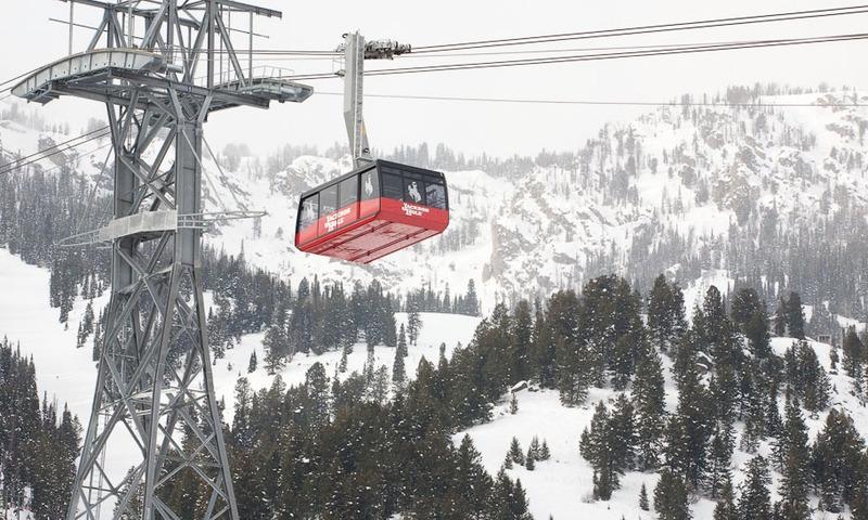 Teton Village Tram Jackson Hole Mountain Resort Wyoming