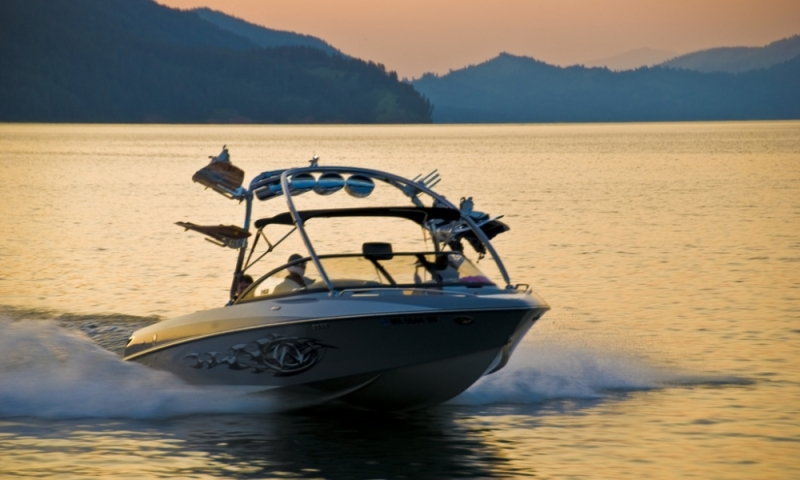 Palisades Reservoir Alpine Wyoming Wakeboard Boat
