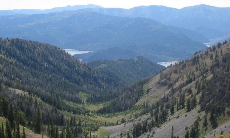 Snake River Range and the Palisades Reservoir