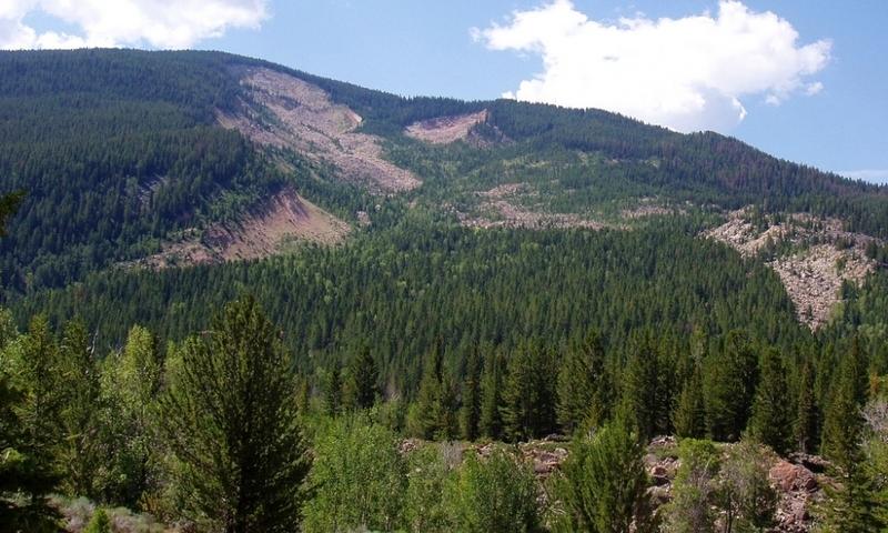 Gros Ventre Slide Jackson Wyoming Slide Lake