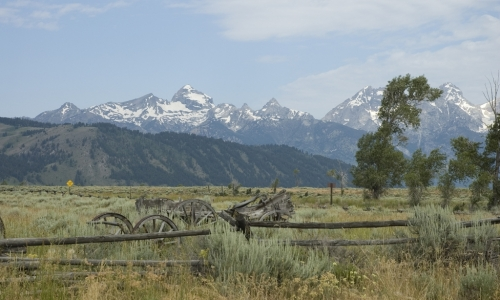 Tetons from Kelly Wyoming