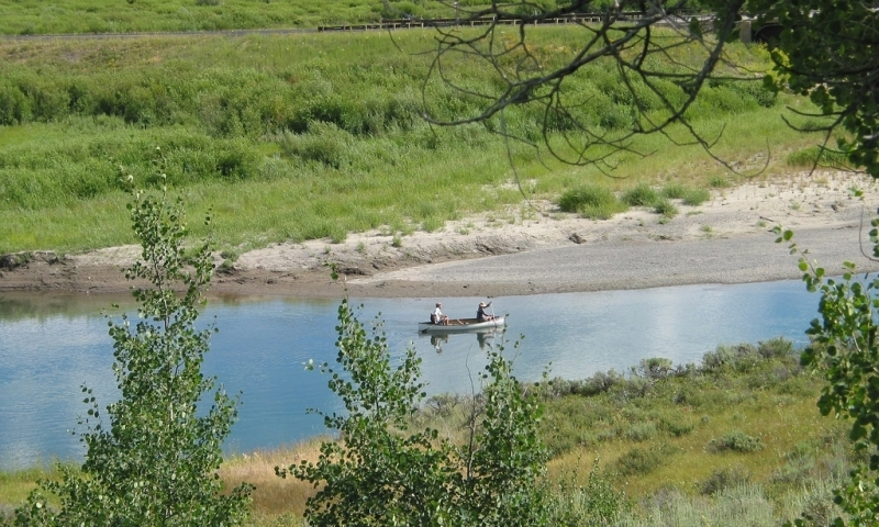 Buffalo River Valley Wyoming Canoeing