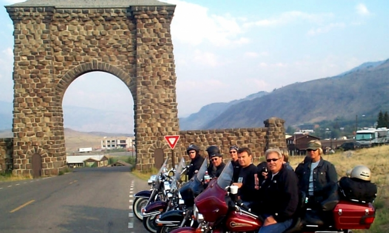 Gardiner Montana Roosevelt Arch Yellowstone Motorcycle