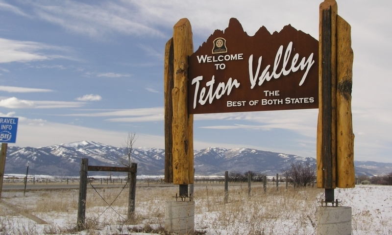 Teton Valley Sign Idaho