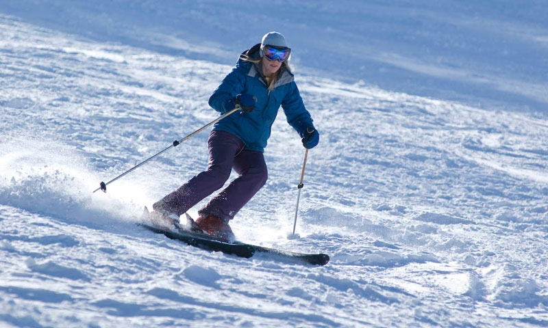 Skiing at Snow King Ski Area