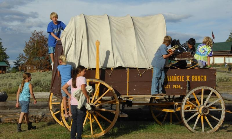 Wagon Ride Grand Teton Jackson Wyoming Kids Family