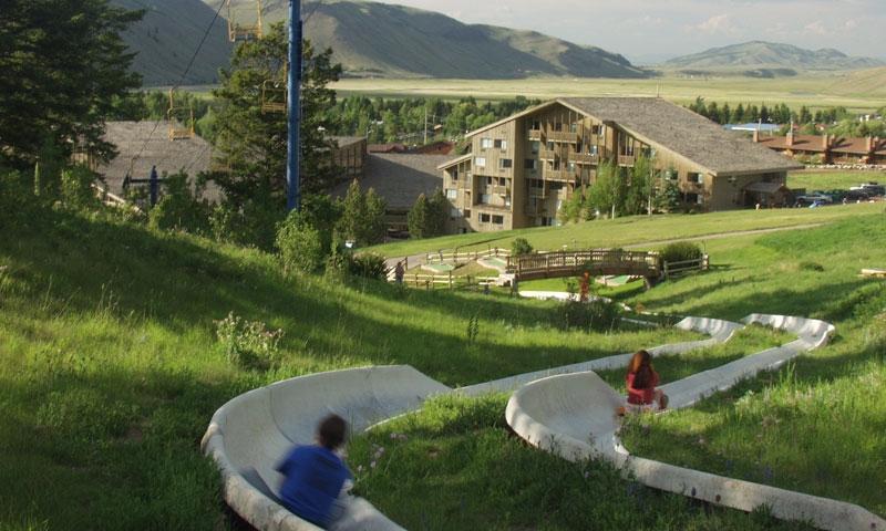 Alpine Slide Snow King Ski Resort Jackson Wyoming Kids Family