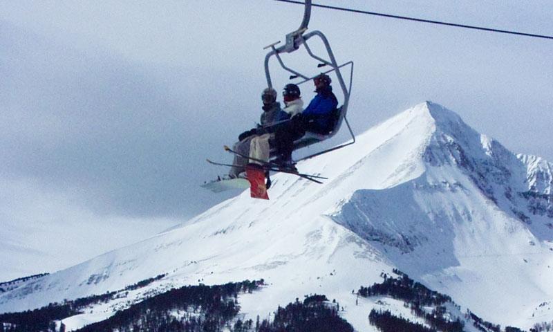 Big Sky Montana Resort Winter Chairlift