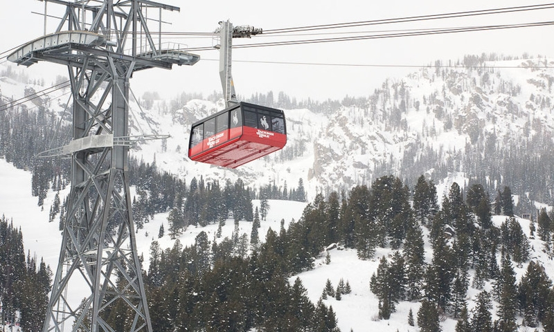 Teton Village Tram Jackson Hole Mountain Resort Wyoming