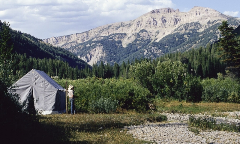 Gros Ventre Mountains Sleeping Indian Sheep Mountain Camp Pack Trip Jackson Wyoming Flat Creek Guide