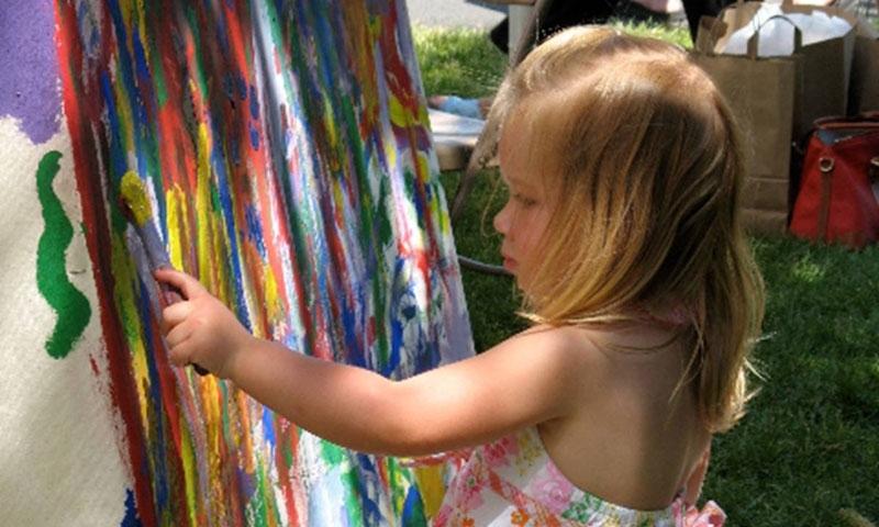 kid painting jackson hole art fair