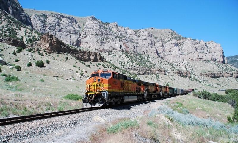 Thermopolis Wyoming Train Windriver Canyon