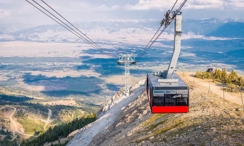 tram at jackson hole mountain resort in summer