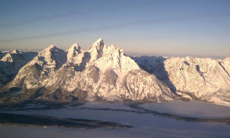 Snowy Teton Range in Wyoming