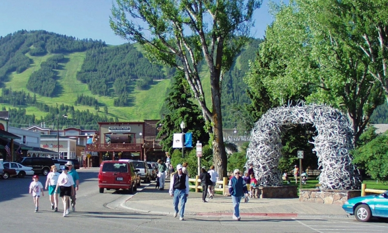 Jackson Wyoming Town Square Downtown
