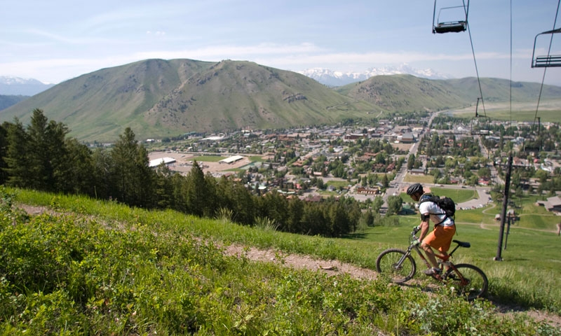 Mountain Biking on Snow King Resort in Jackson Wyoming