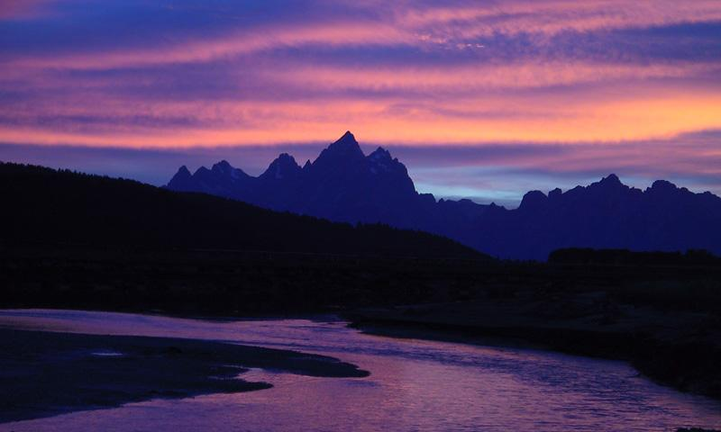 Snake River and the Cathedral Group of the Teton Range