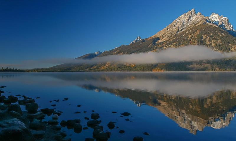 Teton Mountain Range from Jackson Lake