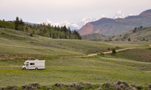 Camping in the Gros Ventre Range near Jackson Wyoming