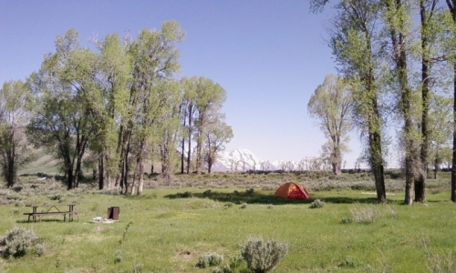 Gros Ventre Campground Wyoming