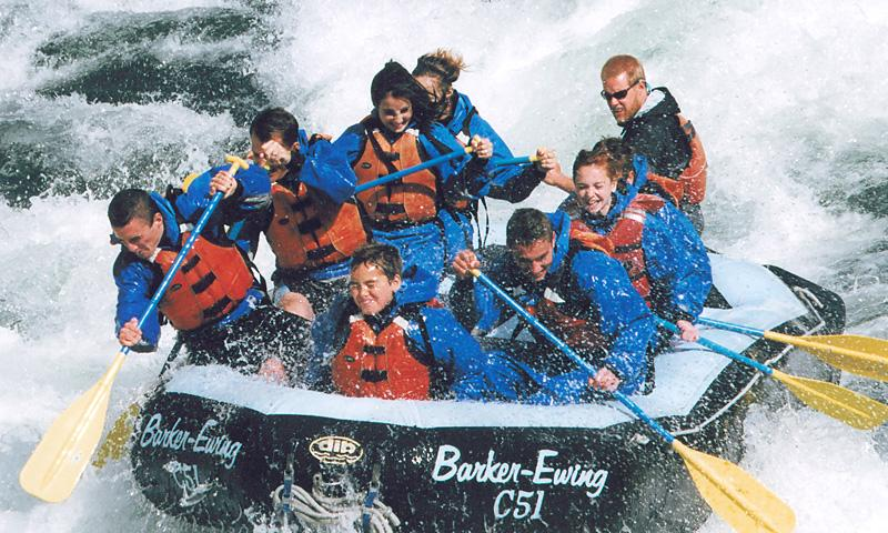 Whitewater Rafting down the Snake River