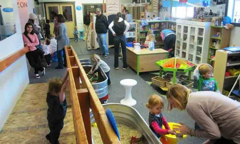 Kids and Parents play at the Jackson Hole Children's Museum