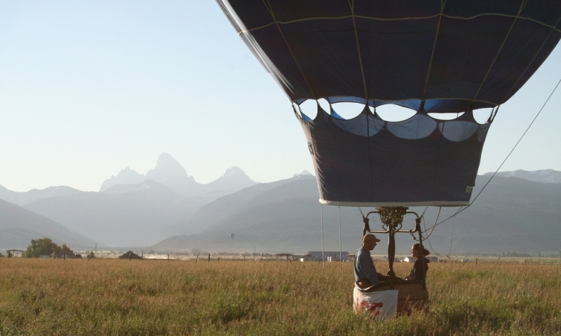 Hot Air Balloon Ride in Teton Valley Idaho