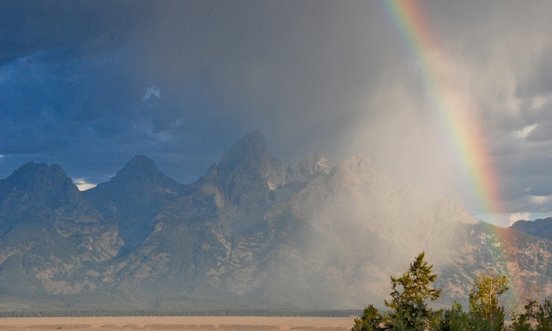 Grand Teton National Park Rainbow