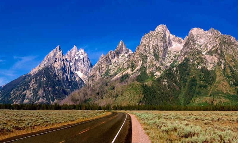 Grand Teton National Park Drive Road Scenic Panoramic