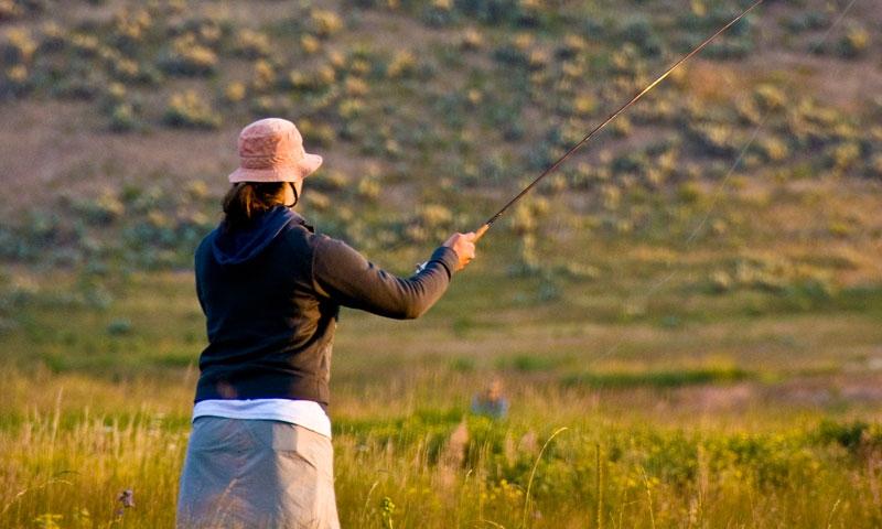 Fishing Flat Creek Jackson Wyoming